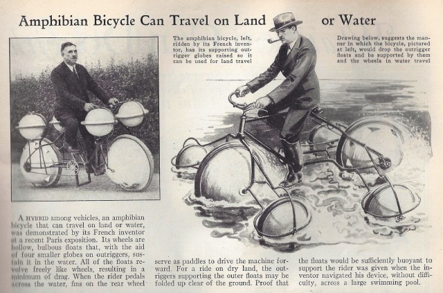 Amphibian Bicycle - Handy In A Flood