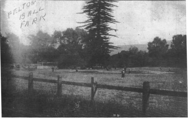 Ball park was where Church is now, The giant redwood is still there.