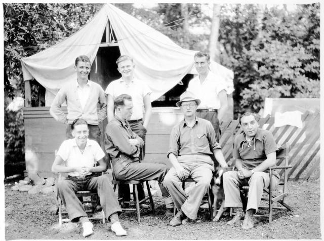 Captain Ed Dougherty (in glasses) Felton Grove circa 1936. Courtesy of MAH.