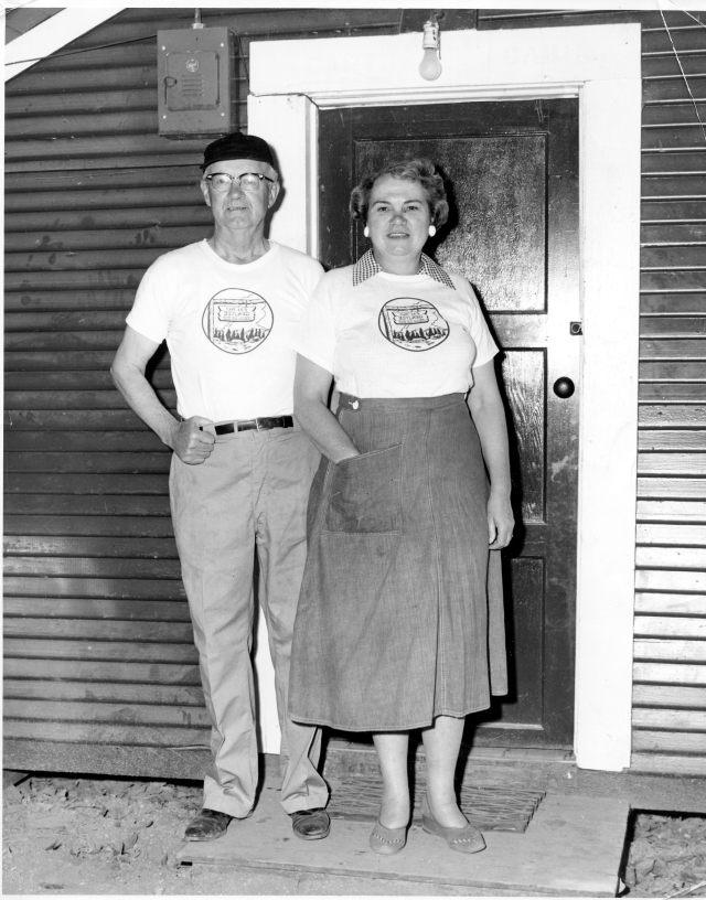 Capt. Ed and his wife circa 1950's. Courtesy of MAH, Capt. Ed Collection