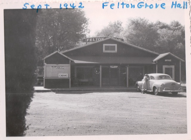 Felton Grove Hall Sept. 1942. Patsy Wright Collection.