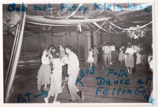 Felton Grove Dance Hall. Bob Wright and Patsy Klein, 1940's. Patsy Wright Collection