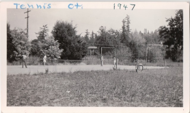 Felton Grove Tennis Court, 1947. Courtesy of Patsy Wright Collection