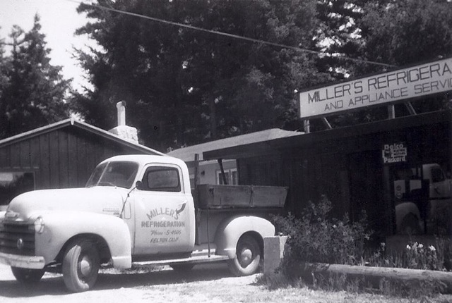 Miller's Refrigeration and Appliance Service, 1950's Courtesy Miller Family.