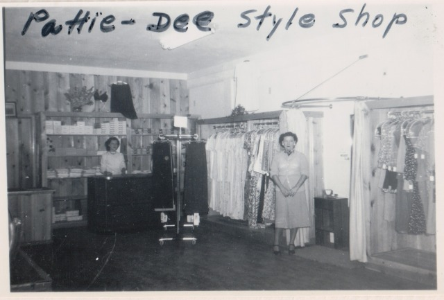 Interior of Pattie-Dee Style Shop. Courtesy of Patsy Wright