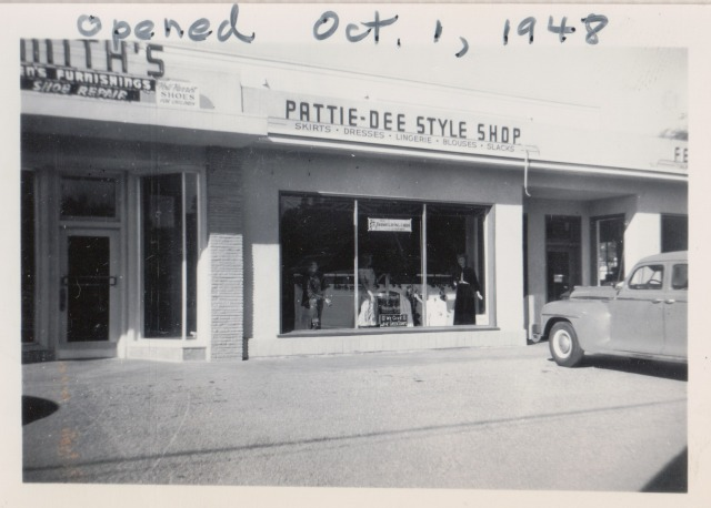 Parrie-Dee Style Shop Downtown Felton Oct. 19, 1948. Courtesy Patsy Wright Collection