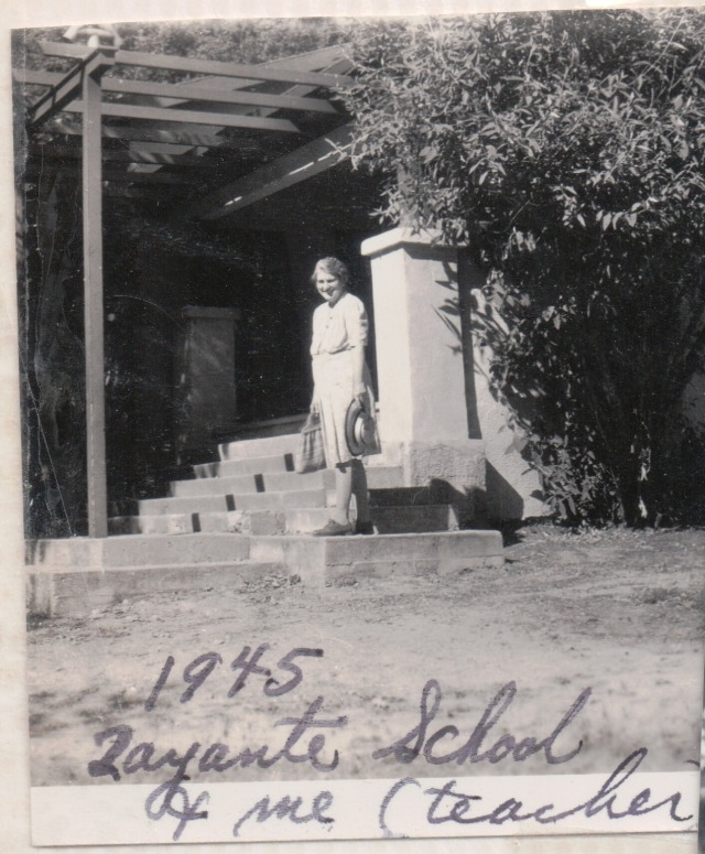 Marjorie Wright, Zayante School teacher 1945. Courtesy of Patsy Wright Collection.