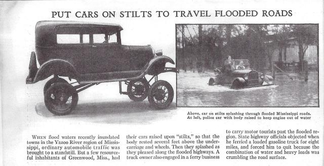 Car on stilts. Handy in a flood.