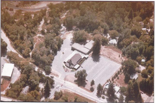 Aerial view of Felton Evangelical Free Church and location of historic Felton Grove sites. Courtesy Felton Bible Church.