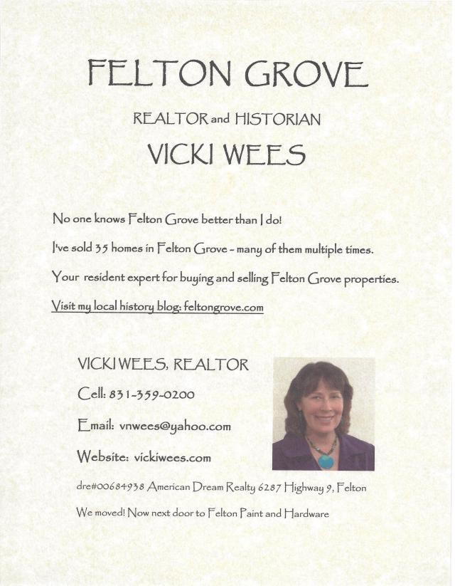 Vicki Wees, Felton Grove Realtor and Historian.