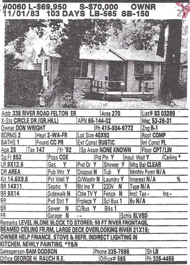 338 River Rd Felton Grove 1983