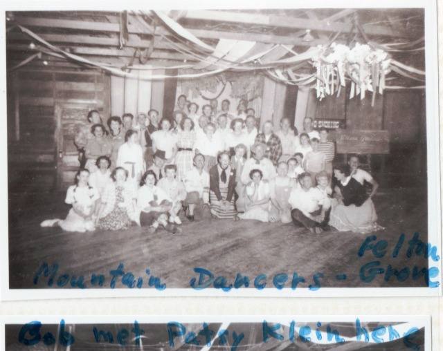 "Interior of Felton Grove Hall 1940's. The dance group ""Mountain Dancers"" shown here."