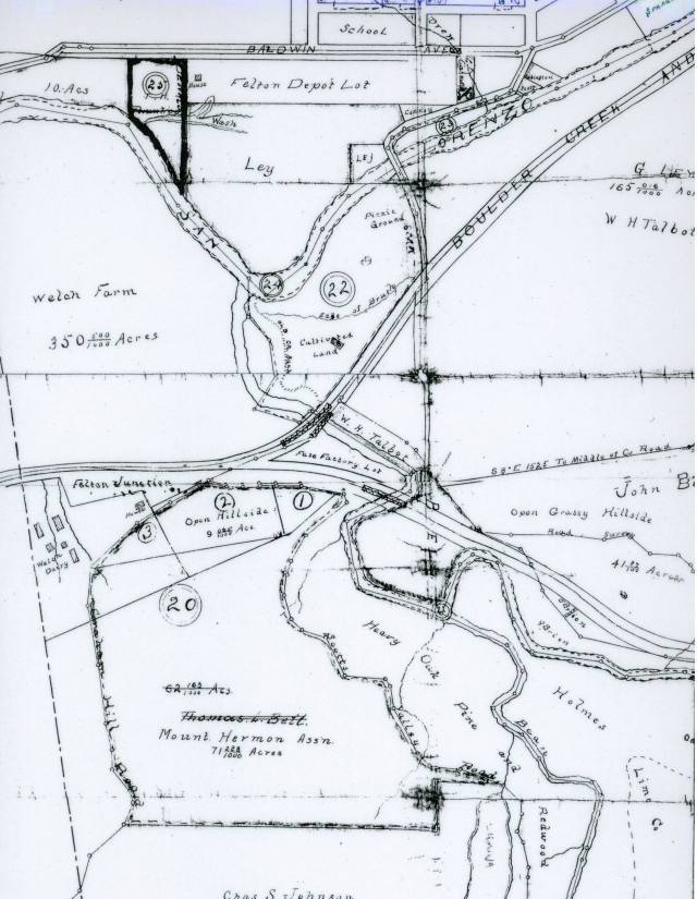 Picnic Ground map (later Felton Grove) circa early 1900's. Courtesy Randall Brown.