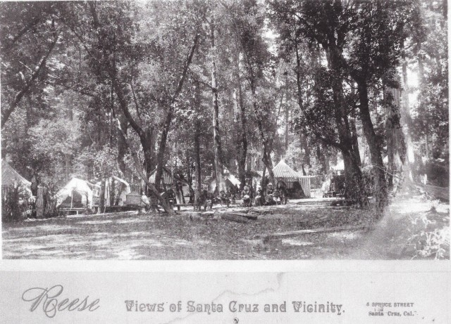 1800's Campground in Santa Cruz County. Could be Felton Grove.