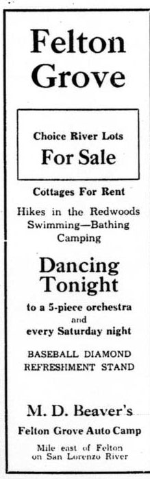 Felton Grove ad June 1933
