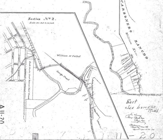 Felton Grove area where Zayante Creek and San Lorenzo River meet. George Treat owner. 1800's