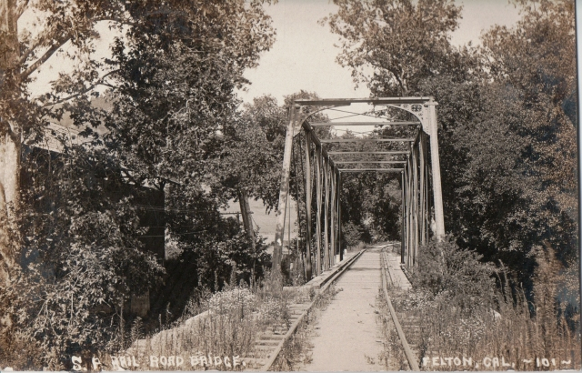 Railroad Bridge next to Felton Covered Bridge. Courtesy Ronnie Trubek Collection.
