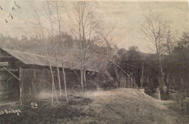 Felton Trestle next to Felton Covered Bridge 1908
