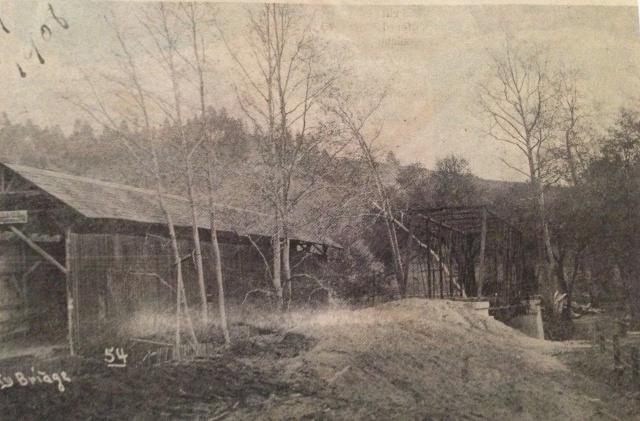 Felton Trestle next to Felton Covered Bridge 1908