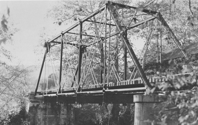 Railroad Bridge - see felton Covered Bridge in background. Late 1920's