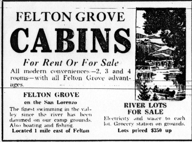 Felton Grove Lots For Sale June 1933.