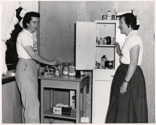 Two Ladies in Kitchen 1956. Captain Ed Collection, Courtesy of MAH.