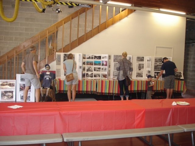 My Local History Photo Gallery set up just before the BBQ at Felton Fire Aug 17, 2013.