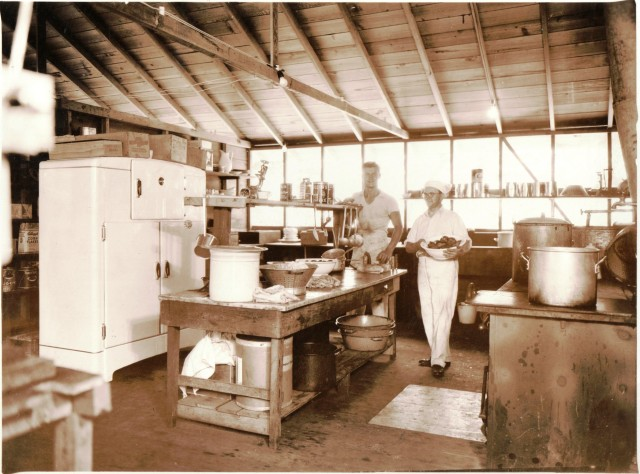 Kitchen at Capt. Ed's Boyland, circa 1956. Courtesy of Santa Cruz Museum of Art and History, Cpt. Ed Collection.