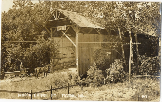 Felton Covered Bridge at Felton Grove circa 1900.