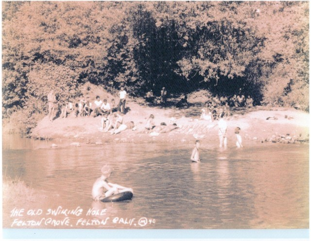 Felton Grove swimming hole 1950's.
