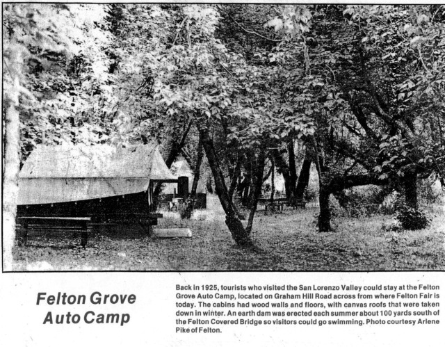 Photo of Felton Grove Auto Camp 1925.
