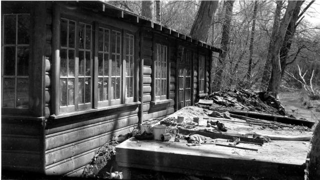 Felton Grove Flood 1940. River Rd. Courtesy Randall Brown.