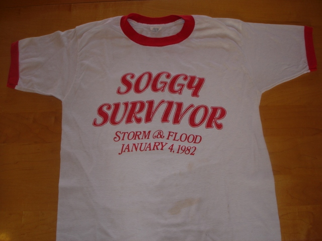 Soggy Survivor T-Shirt given to me by Tom Andersen.