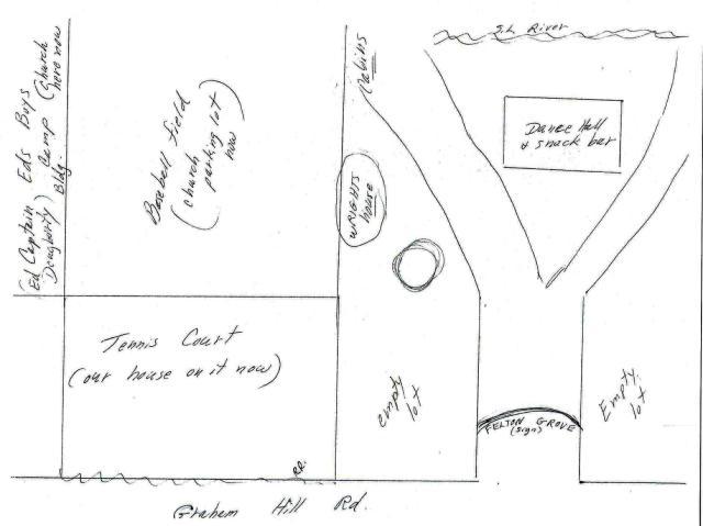 Sketch of Felton Grove Resort, circa 1940's courtesy Patsy Wright.