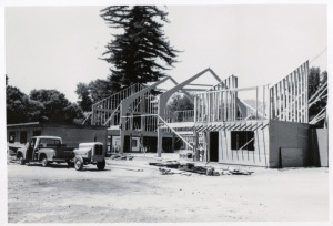 1962 Evangelical Free Church being built where part of Felton Grove Resort,  Felton Grove Auto Camp and Captain Ed's Boyland used to be. As far back as 1870's campers came from all over to stay at the