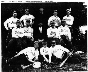 Felton Woodpeckers baseball team circa 1908. George Ley, manager.
